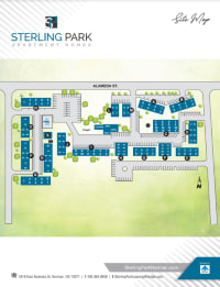 Site map of Sterling Park in Norman, Oklahoma