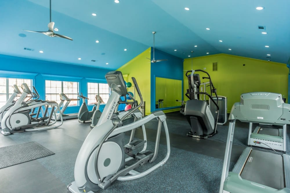 Fitness center at River Pointe in North Little Rock, Arkansas.
