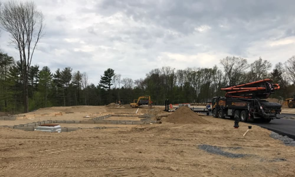 Place under construction at Enclave 50 in Ballston Spa, New York