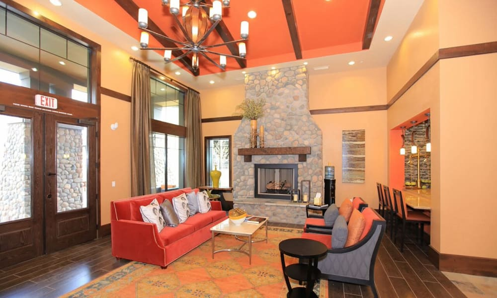 Interior of the Elevation Apartments clubhouse