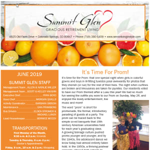 June Summit Glen Newsletter