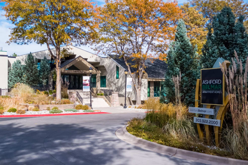 Beautiful garden-style apartments at Ashford Belmar in Lakewood, Colorado