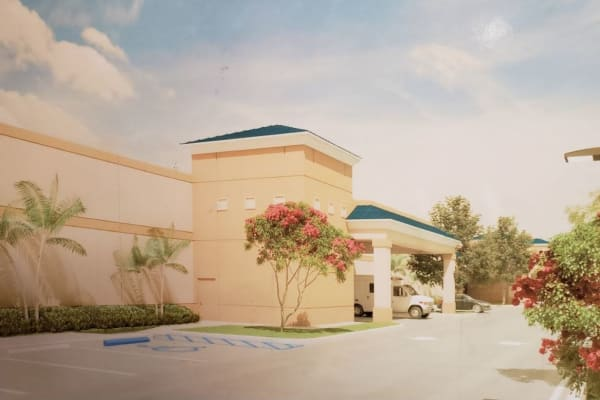 Rendering of the main entrance at Top Self Storage in West Palm Beach, Florida