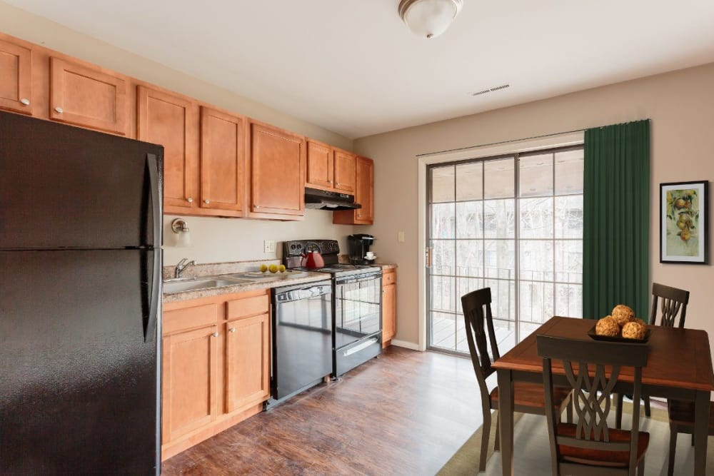 Fully-equipped kitchen at The Residences at Covered Bridge in Liverpool, NY