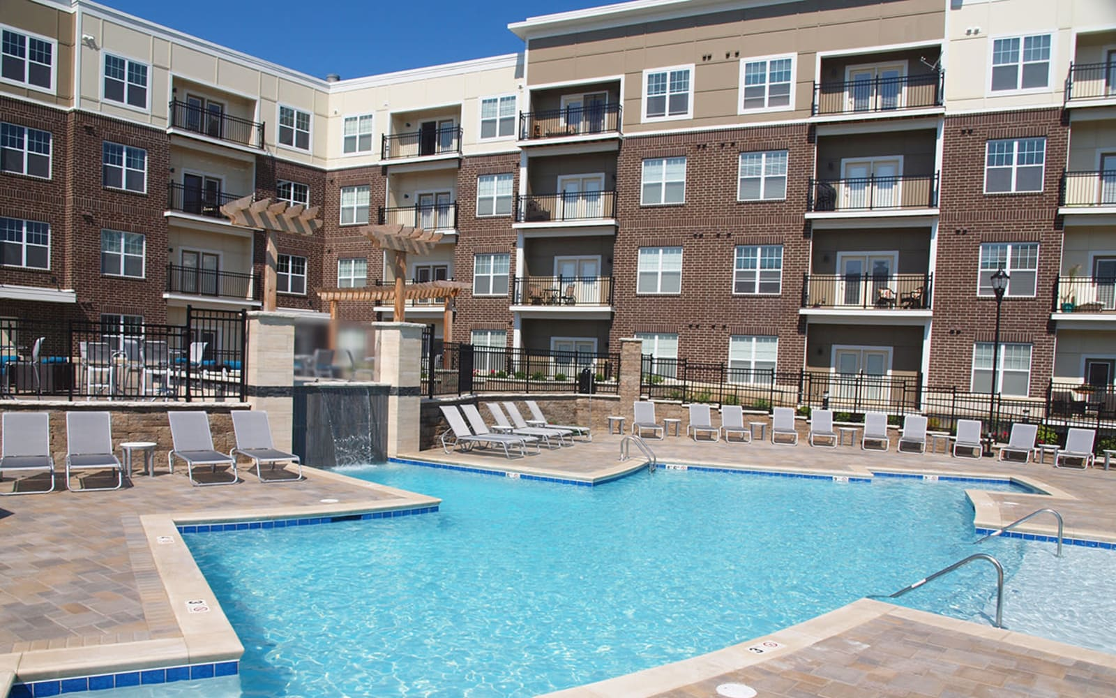 Swimming pool at Allure Apartments in Centerville, Ohio