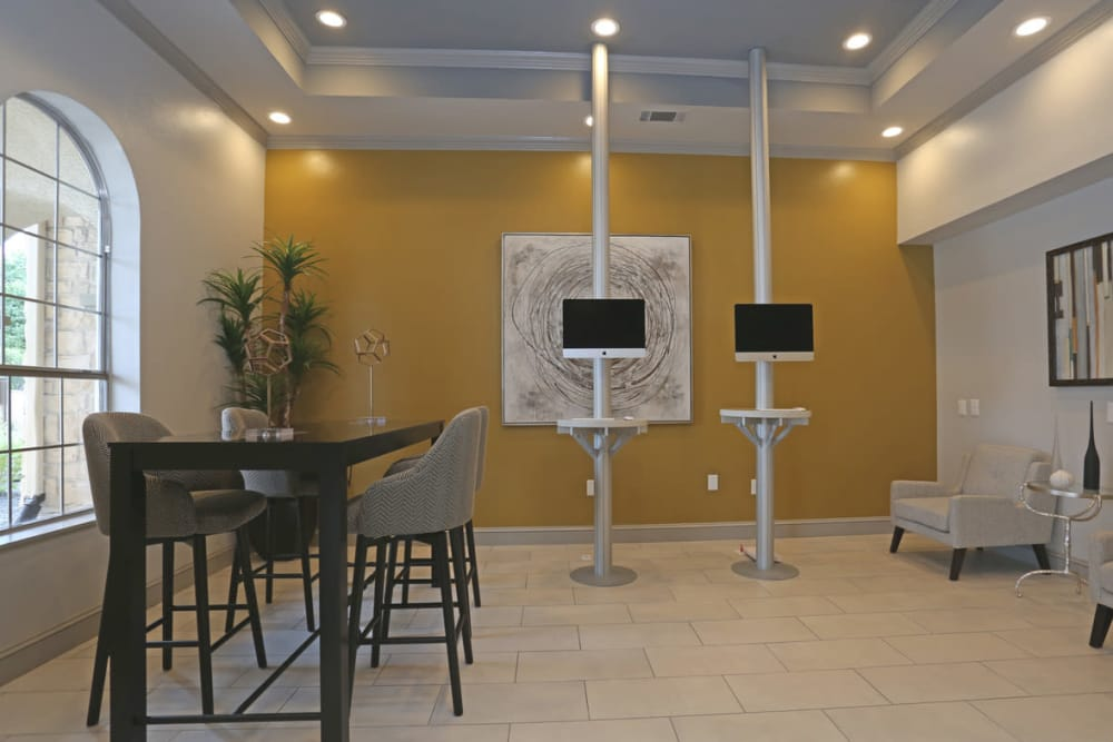 Business center at Legacy at Cypress in Cypress, Texas