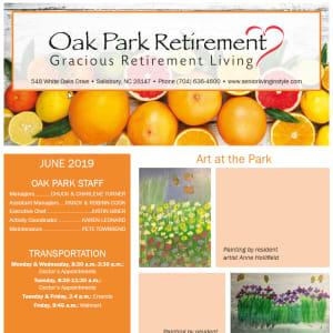 June Oak Park Retirement Newsletter