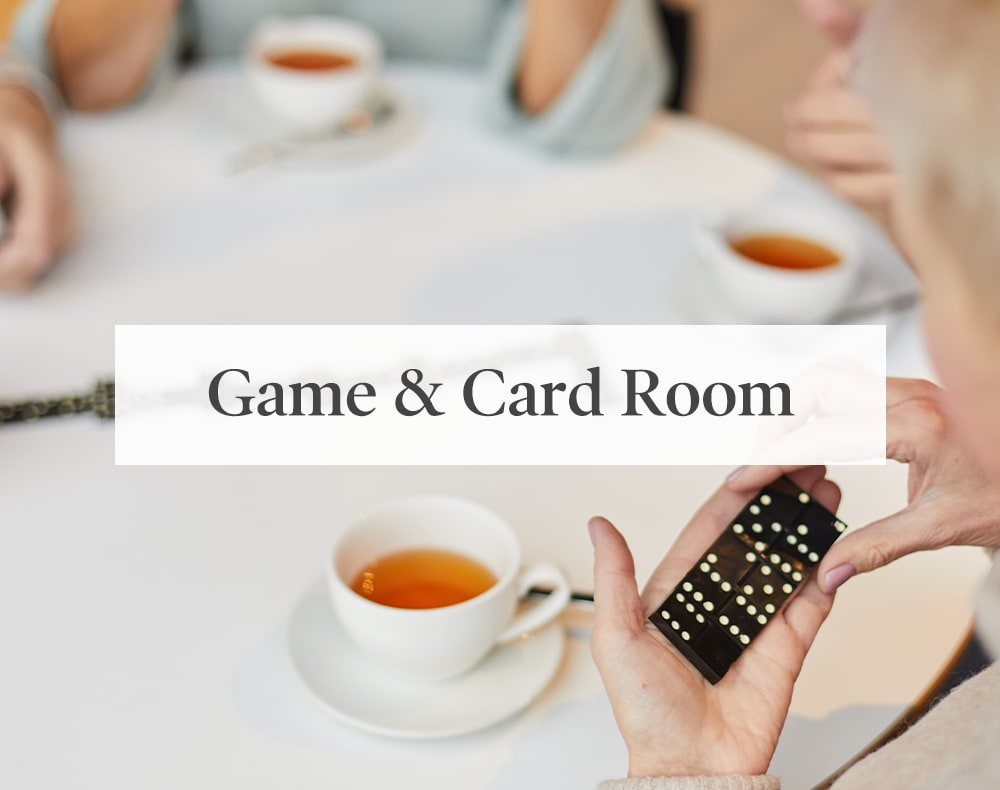 Game and card room at Artistry at Craig Ranch in McKinney, Texas.