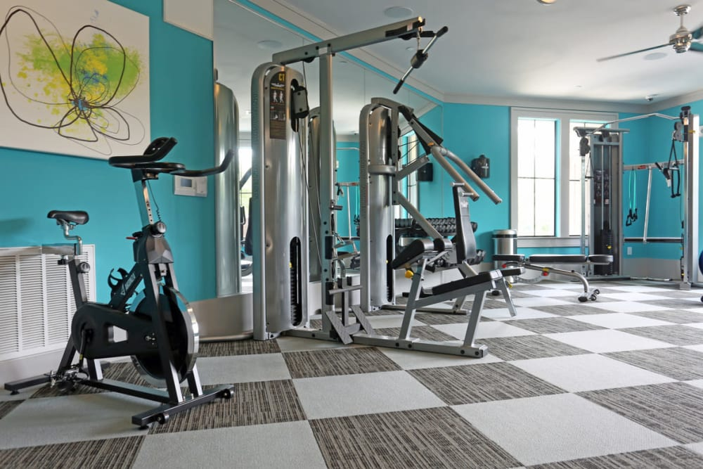 State-of-the-art fitness center at Heights West 11th in Houston, Texas