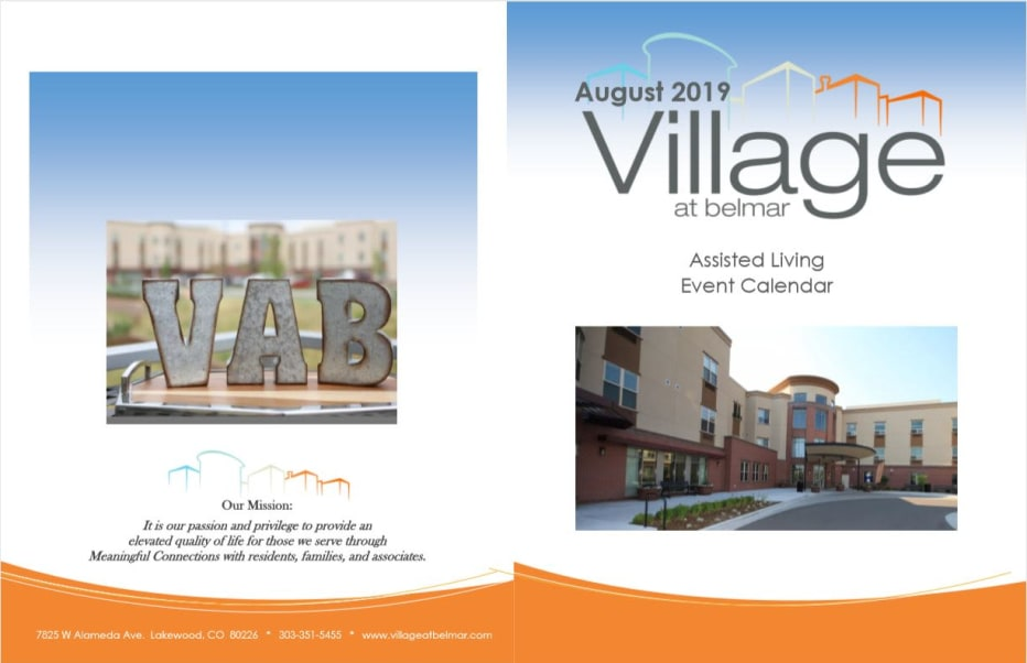 Learn more about our assisted living events at Village at Belmar