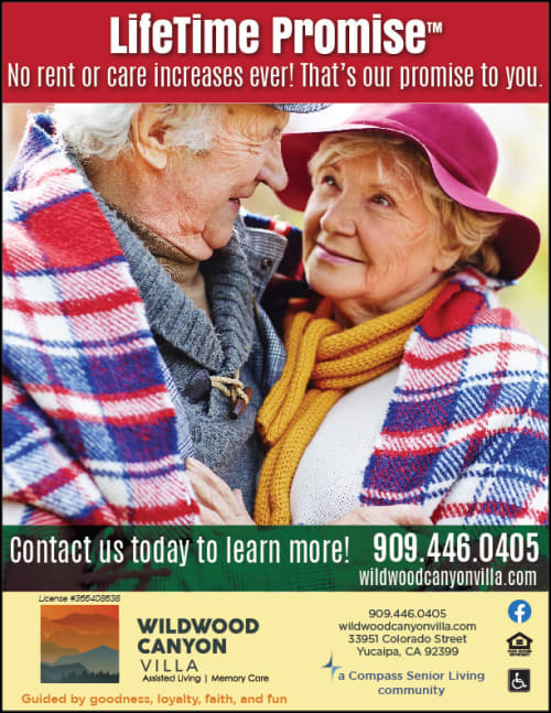 Lifetime Promise flyer at Wildwood Canyon Villa Assisted Living and Memory Care