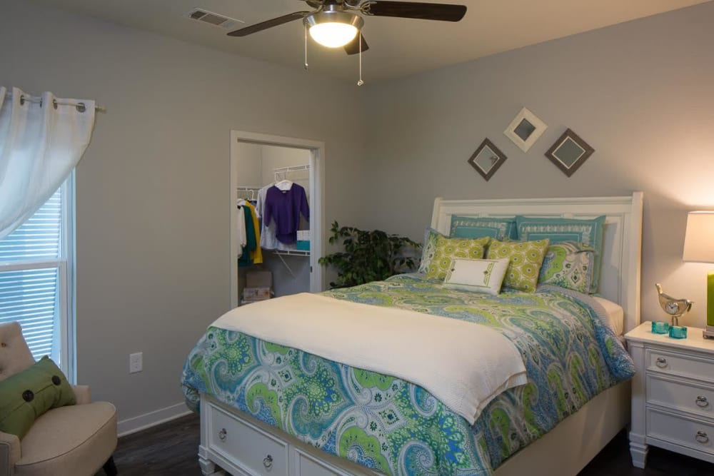 Spacious second bedroom at West Woods Apartments in Pensacola, Florida