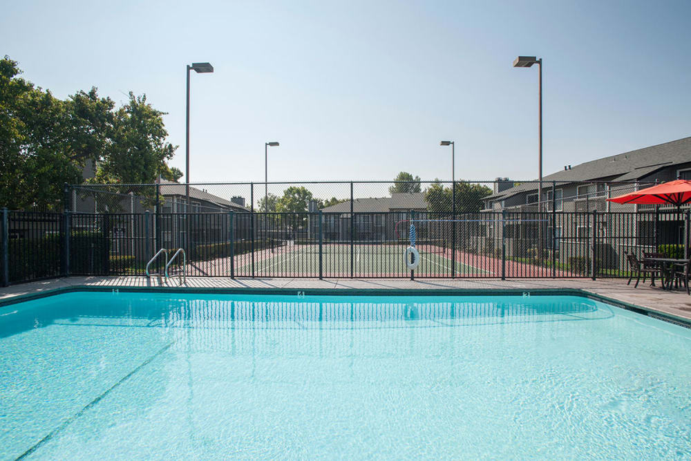 Expansive swimming pool at Sandpiper Village Apartment Homes in Vacaville, California