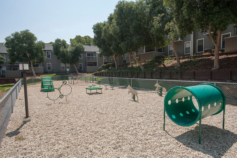 Dog park play area at Sandpiper Village Apartment Homes in Vacaville, California