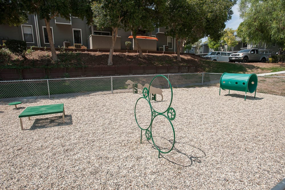 Dog park at Sandpiper Village Apartment Homes in Vacaville, California