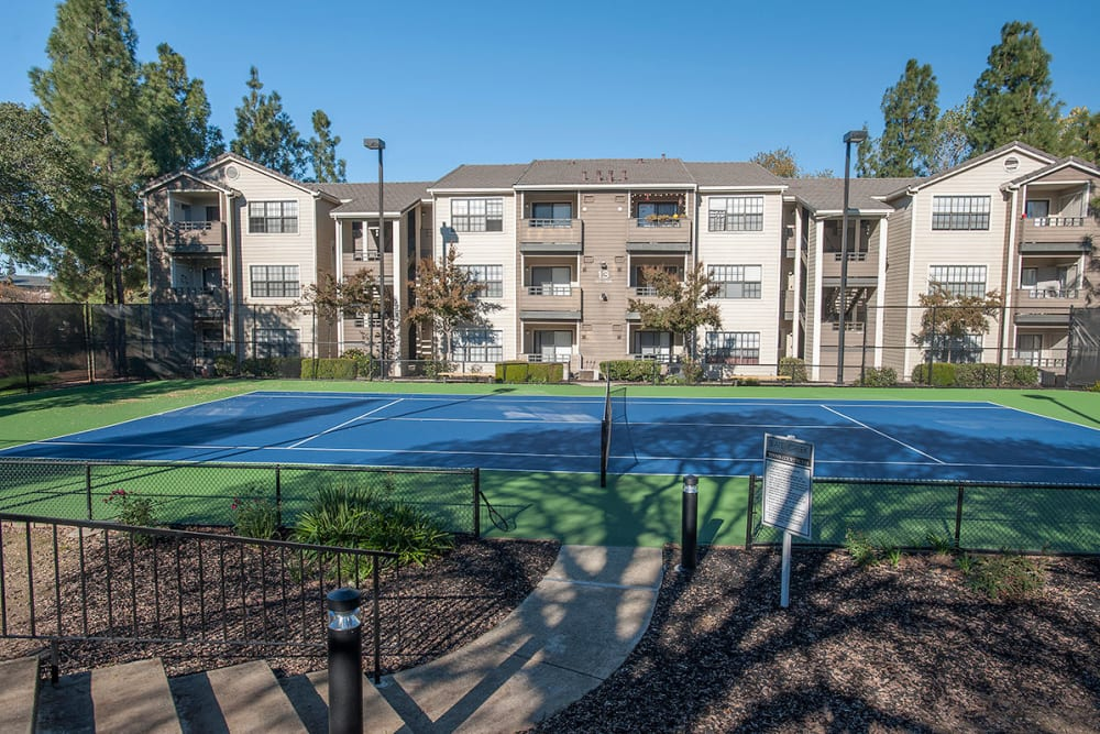 Tennis court is available at Slate Creek Apartments in Roseville, California