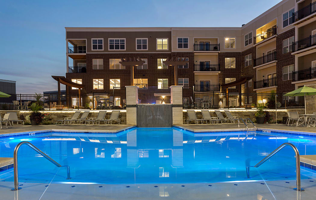 Sparkling pool at Allure Apartments in Centerville, Ohio