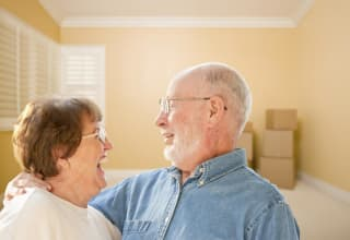 Happy couple at Discovery Commons At Bradenton in Bradenton, Florida