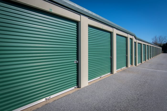 Drive up storage units with roll up door at Space Shop Self Storage in Greenville, South Carolina