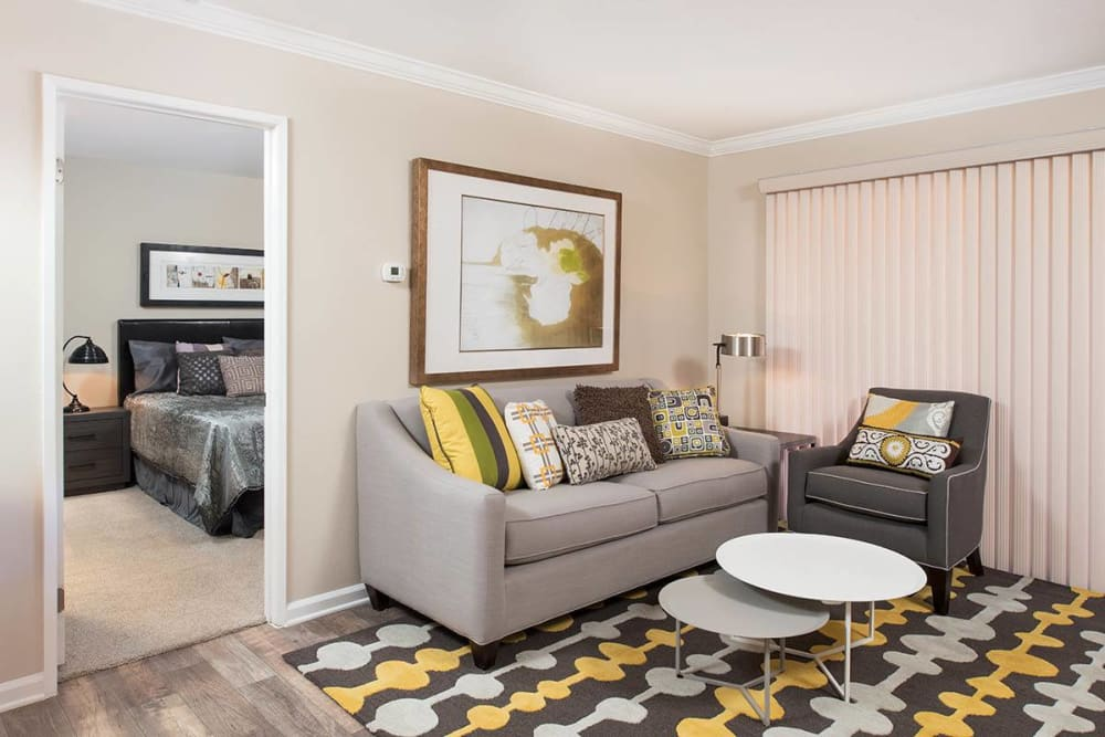 Luxury living room layout at Shadow Ridge Apartment Homes in Simi Valley, California