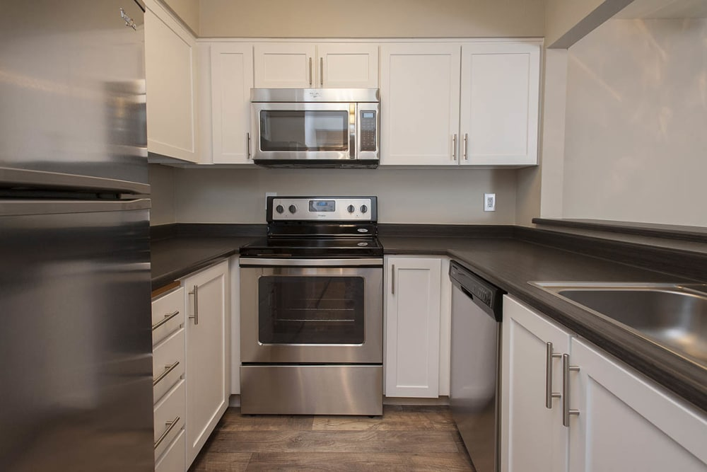 State-of-the-art kitchen at Waterhouse Place in Beaverton, Oregon
