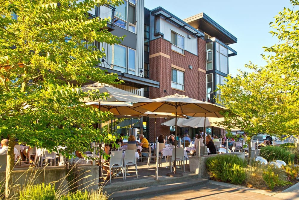 Dining near Merrill Gardens at The University is in Seattle, Washington.