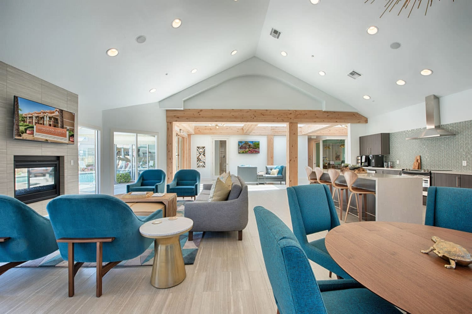 Clubhouse seating at Sonoran Vista Apartments in Scottsdale, Arizona