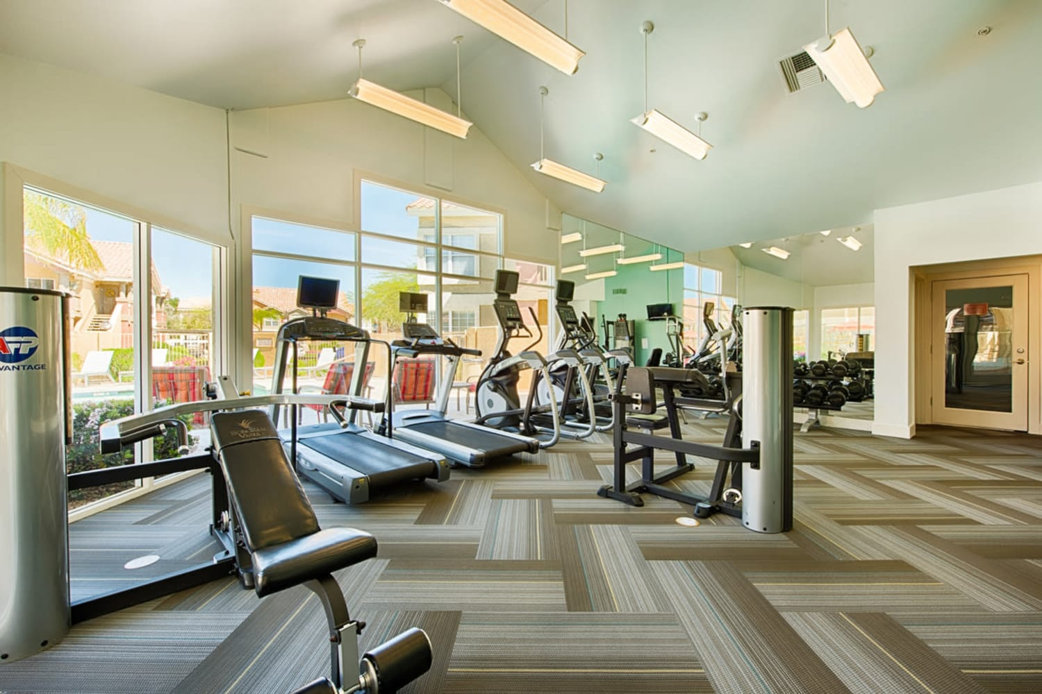 Enjoy access to fitness equipment at Sonoran Vista Apartments in Scottsdale, Arizona
