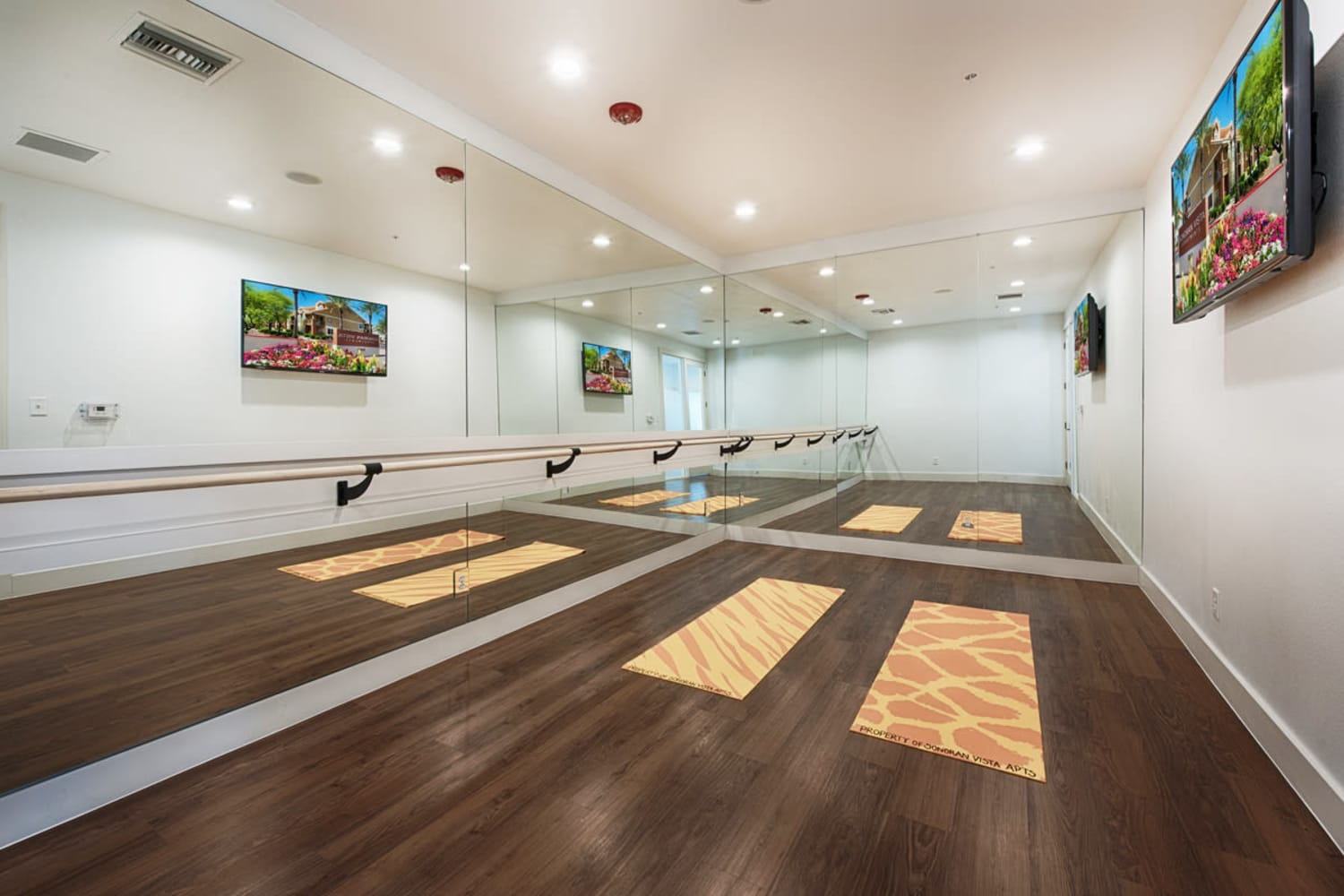 Mirrored gym area at Sonoran Vista Apartments in Scottsdale, Arizona