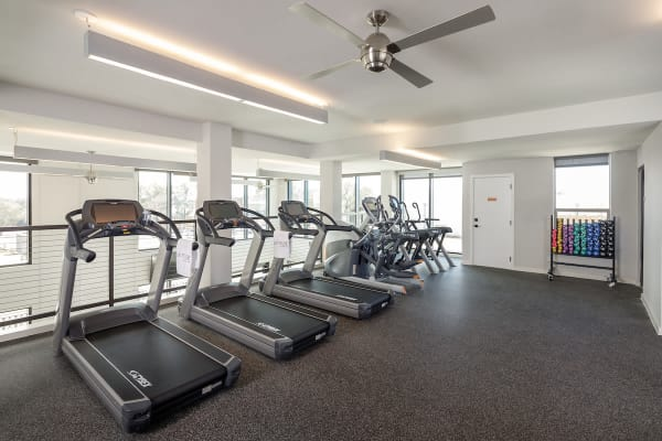 Fitness center at Latitude at Presidio in Cedar Park, Texas