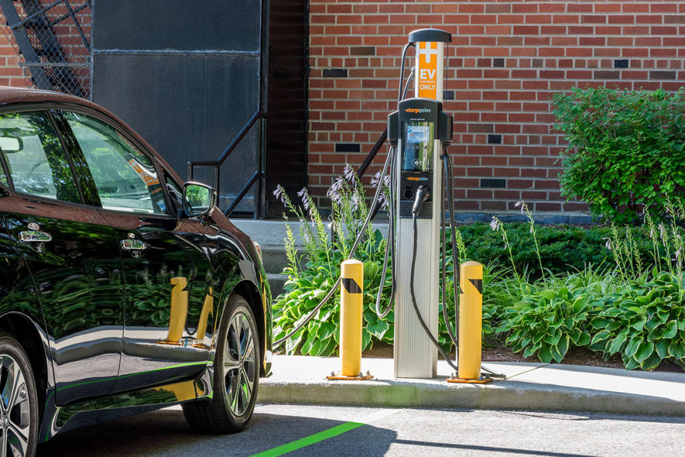 EV Charger at Camelot Court in Brighton, Massachusetts