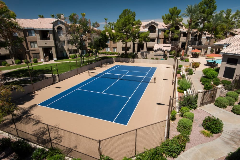 Tennis court at The Palisades at Paradise Valley Mall in Phoenix, Arizona