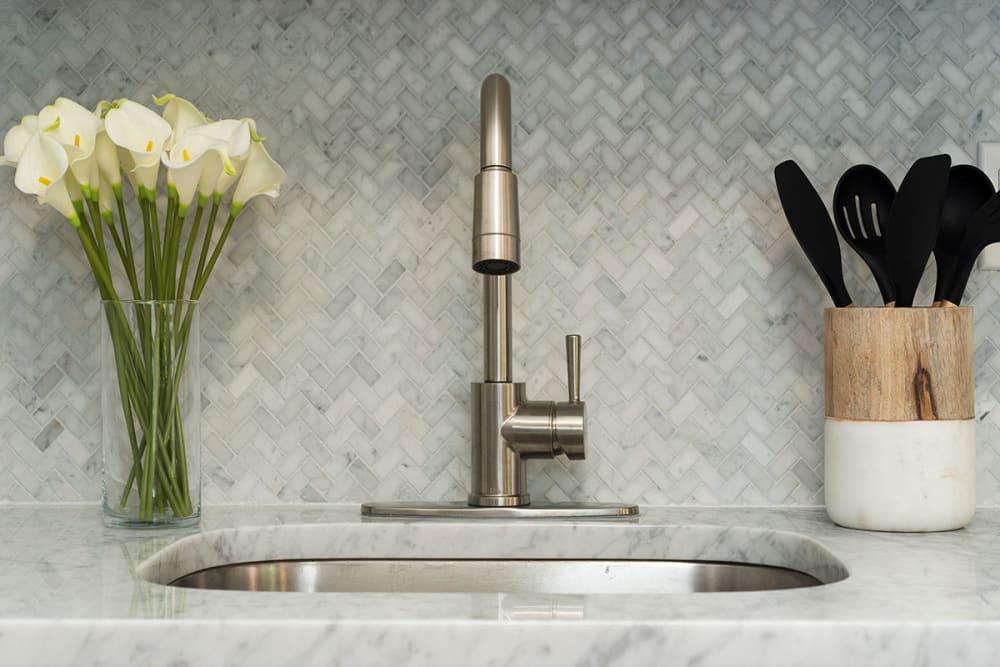 Exquisite faucet at Everly Roseland in Roseland, New Jersey