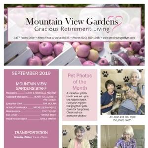 September Mountain View Gardens newsletter