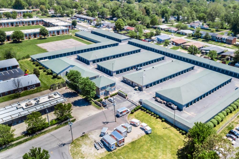 Aerial view of Prime Storage in Louisville, Kentucky