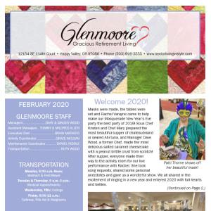 February Glenmoore Gracious Retirement Living Newsletter