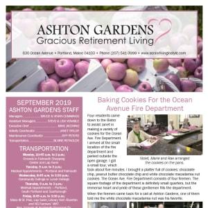 September Ashton Gardens Gracious Retirement Living Newsletter