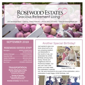 September Rosewood Estates Newsletter