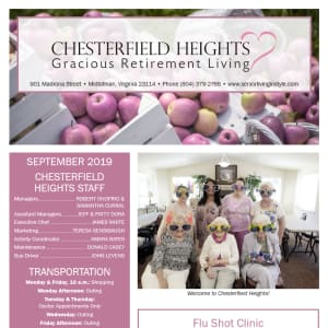 September Chesterfield Heights Newsletter