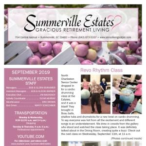 September Summerville Estates Gracious Retirement Living Newsletter