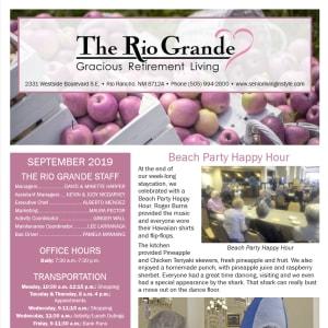 September The Rio Grande Gracious Retirement Living Newsletter