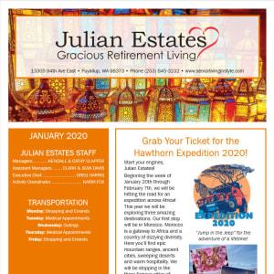 January Julian Estates Gracious Retirement Living Newsletter
