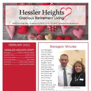 February Hessler Heights Gracious Retirement Living newsletter