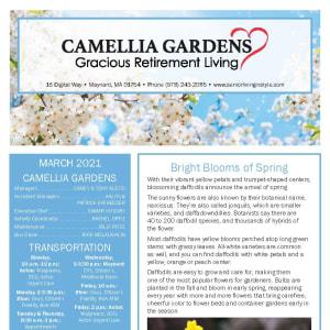 March Camellia Gardens Gracious Retirement Living Newsletter