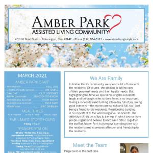 March Amber Park newsletter