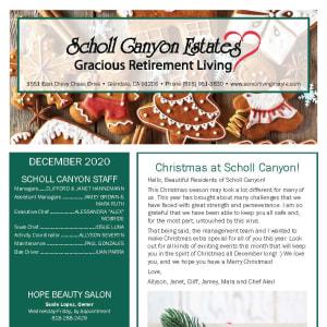 December Scholl Canyon Estates newsletter
