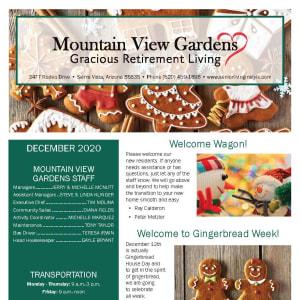 December Mountain View Gardens newsletter