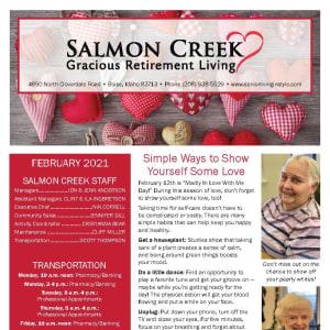 February newsletter at Salmon Creek in Boise, Idaho
