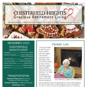 December Chesterfield Heights newsletter