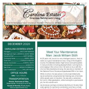 December Carolina Estates newsletter